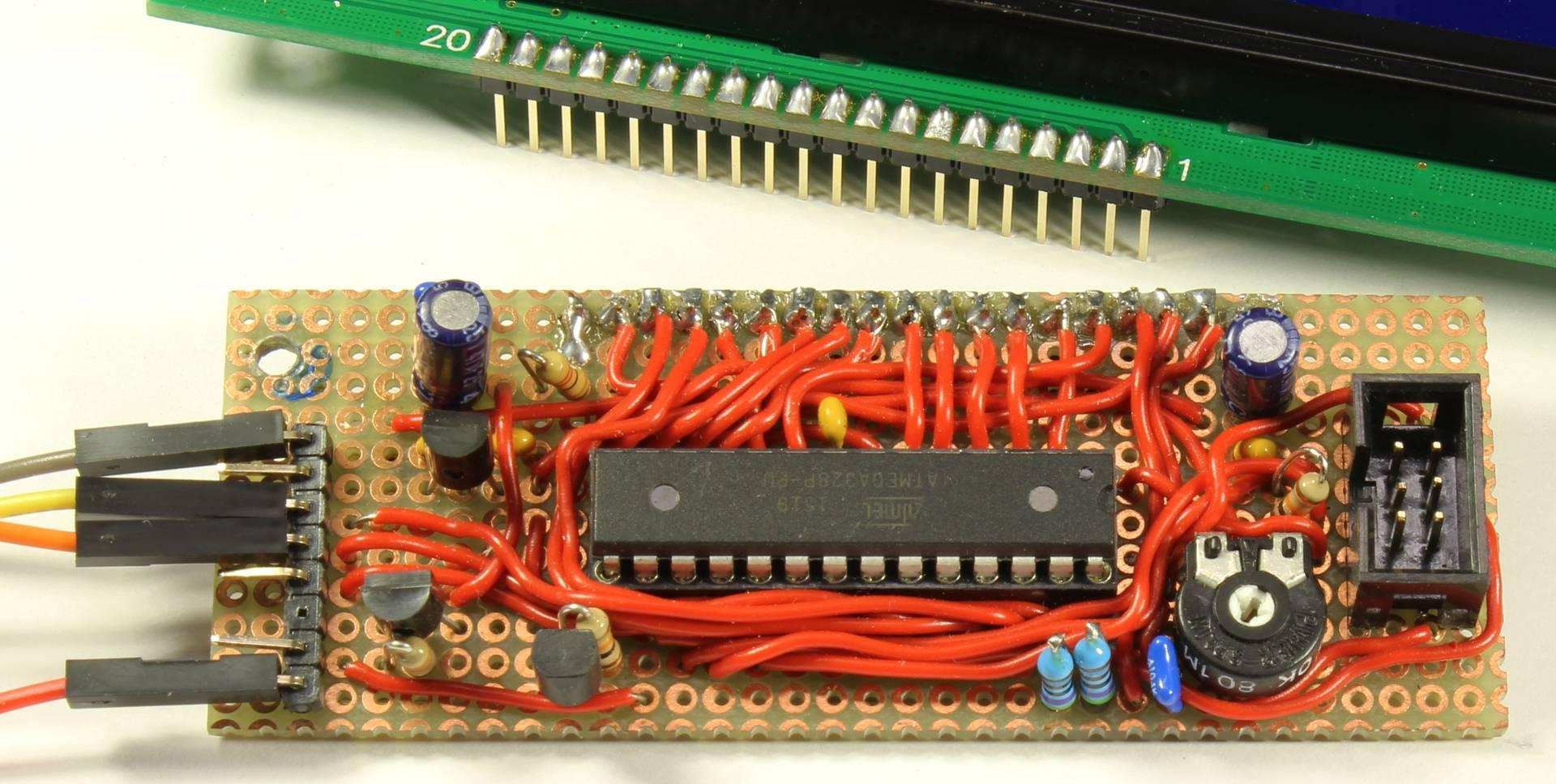 Prototyp auf einer Lochraster-Platine