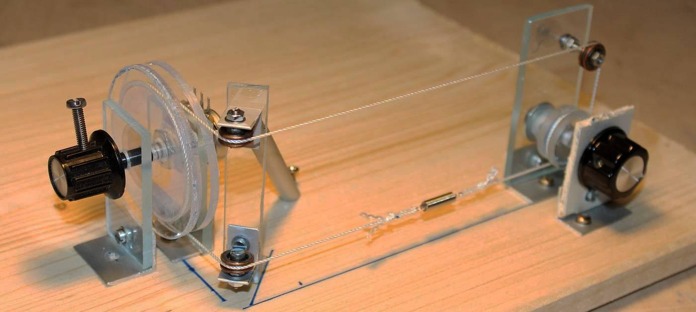 Testaufbau des Skalen-Antriebs