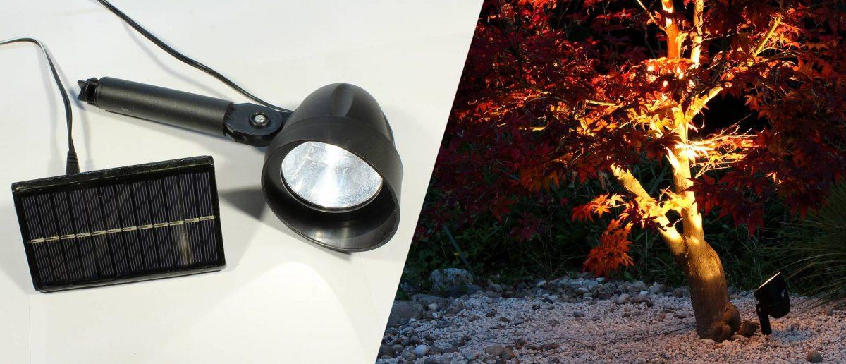 Solar LED-Strahler für den Garten