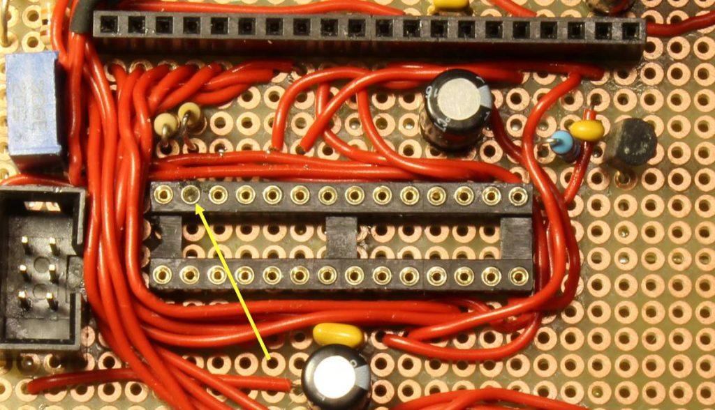 Fehlerhafte IC-Fassung für den I2C-Slave-Prozessor