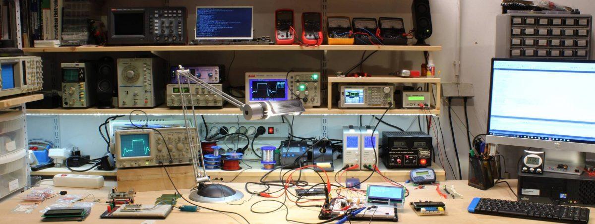 Blick in das Elektronik-Labor