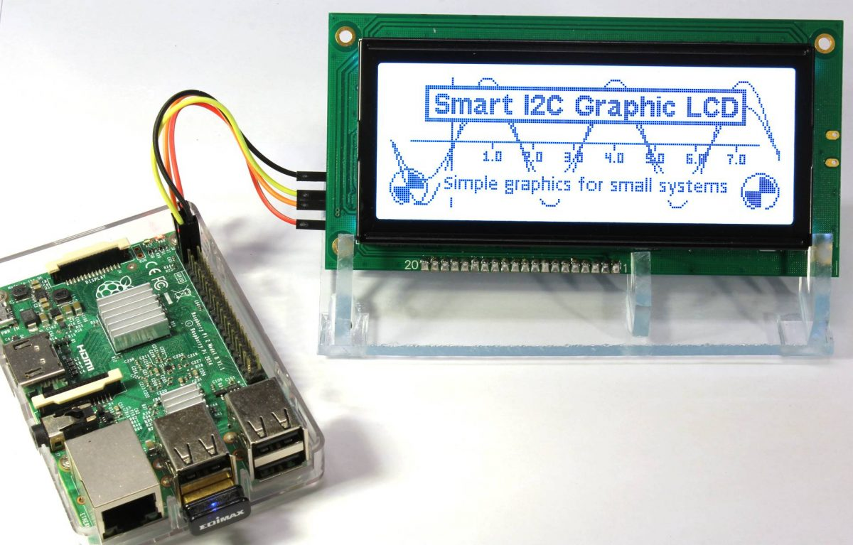 Smart I2C GLCD am Raspberry Pi